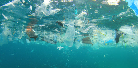 Plastic trash in our world's oceans
