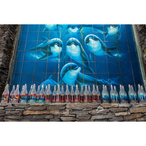 The next shot is the striking Orca Trio bottles with Wyland's phenomenal