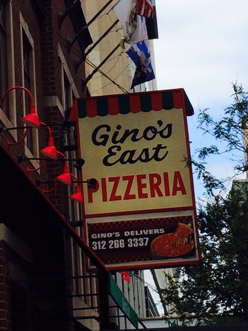 Gino's East PIzzeria at Michigan Ave. and Superior St. in Chicago
