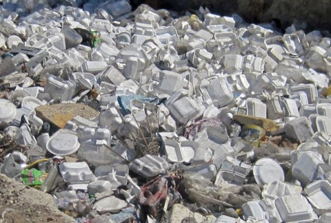 Foam containers taking up a whole lot of space in the landfill