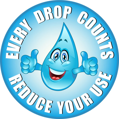 We all have to do our part to conserve water!