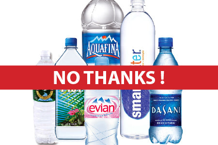 Just say no thanks to single-use plastic water bottles!