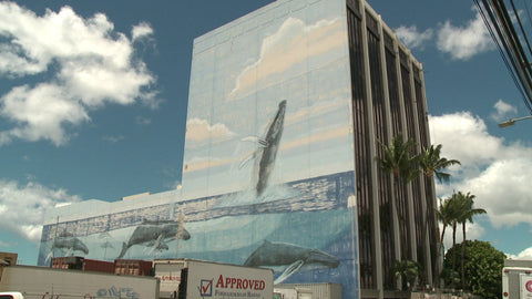 "Wyland's ""New Millennium"" mural in Honolulu"