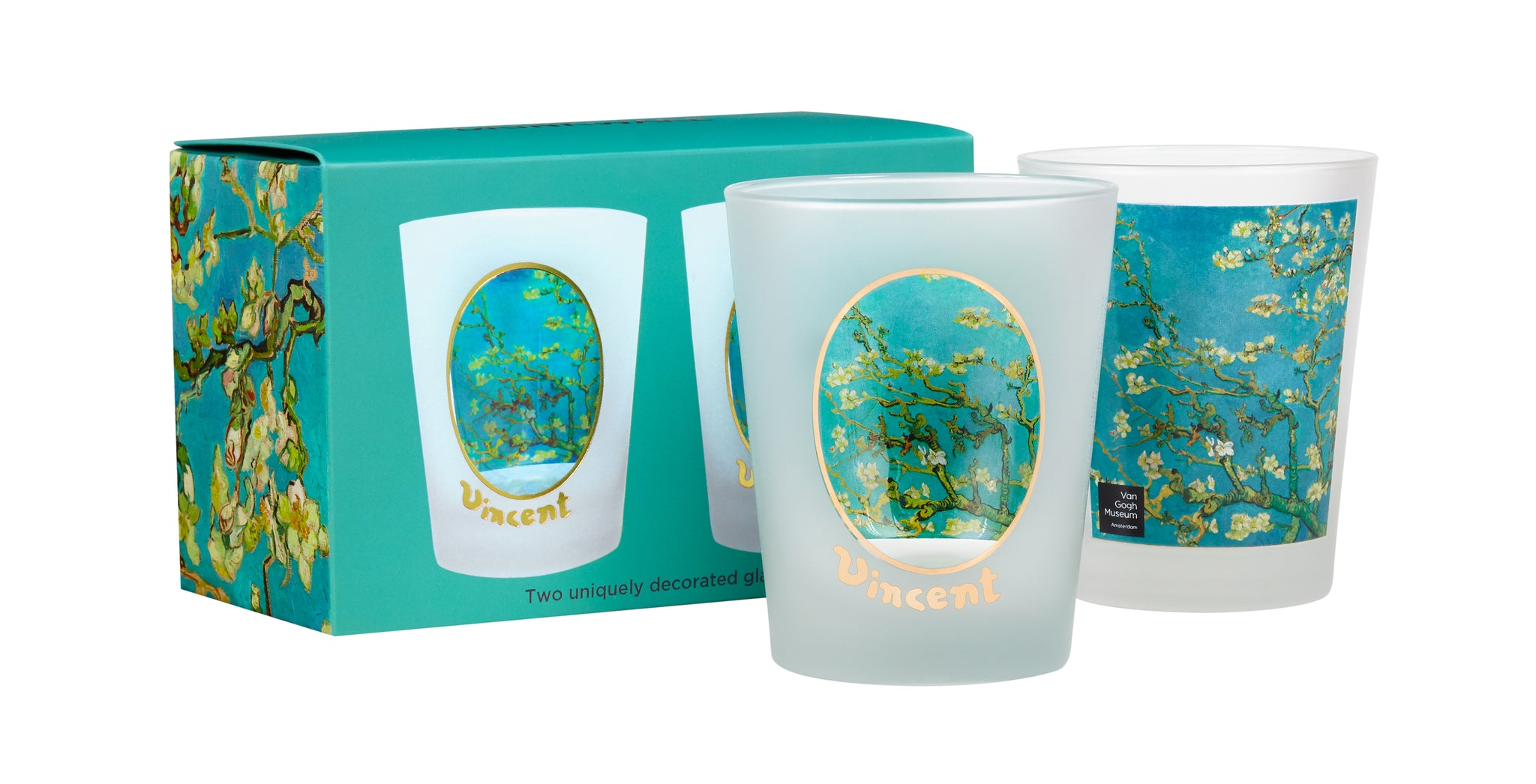 Van Gogh Almond Blossoms Double Old Fashioned Glasses With Box