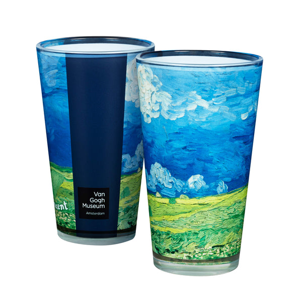 Van Gogh Wheatfield Under Thunderclouds Pint Glass