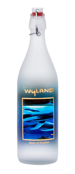 Wyland Dawn of Creation Glass Bottle