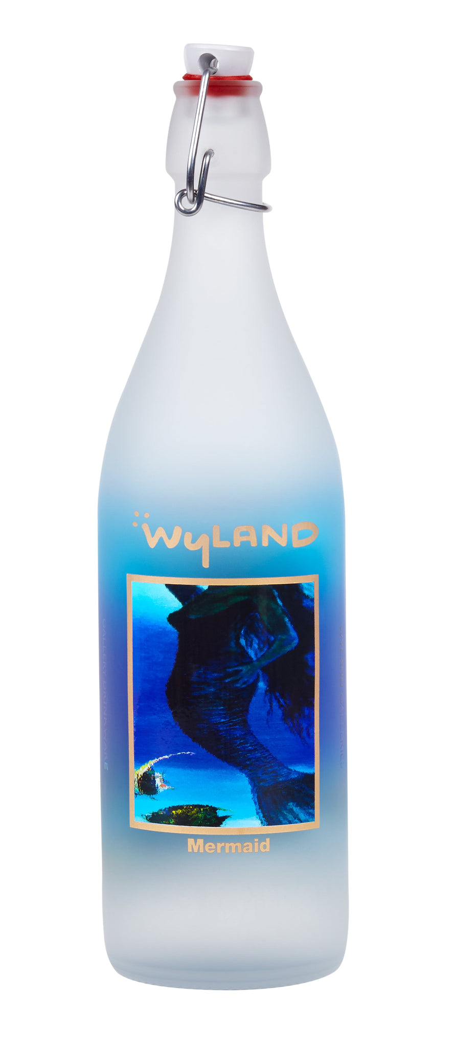 Wyland Mermaid Glass Bottle