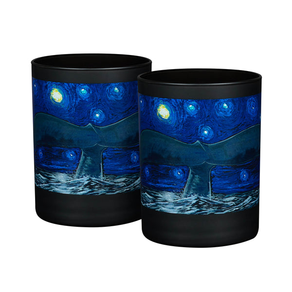 Wyland Starry Sea Double Old Fashioned Pint Glasses