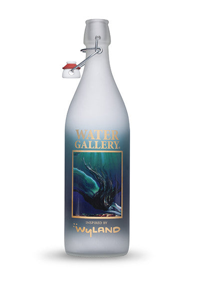 Water Gallery, glass water bottle, reusable water bottle, Wyland water bottle, mermaid, turtle, sea turtle, Mermaid and Turtle, ocean art