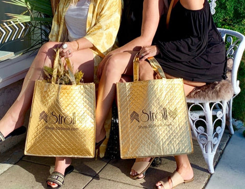 Stroll Gold Tote