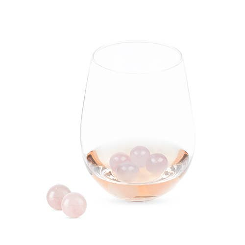 Twine - Garden Party: Rose Quartz Wine Gems Set of 6 by Twine