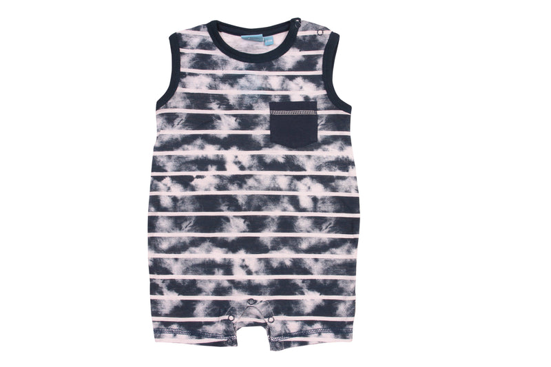 Bear Camp - Hector Burnout Stripe Tank Romper