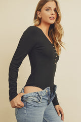 Long Sleeve Button Bodysuits