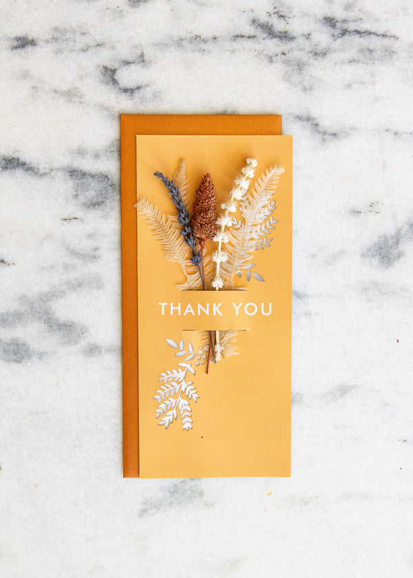 Lucca - Thank You | Dried Floral Greeting Card
