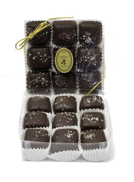 Dark Chocolate Sea Salt Caramels (9pc)