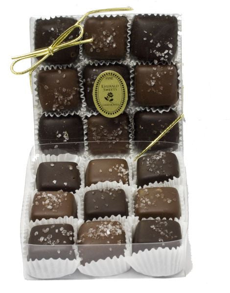 Milk & Dark Chocolate Caramels (9pc)