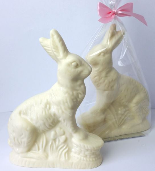 Large Rabbit White Chocolate