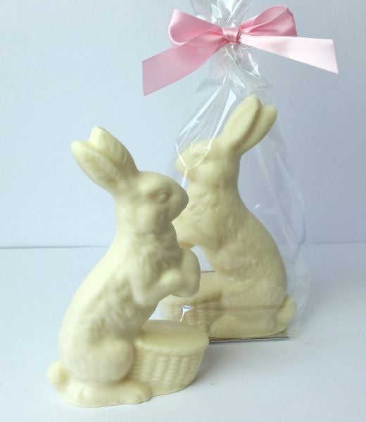 Rabbit With Flower White Chocolate