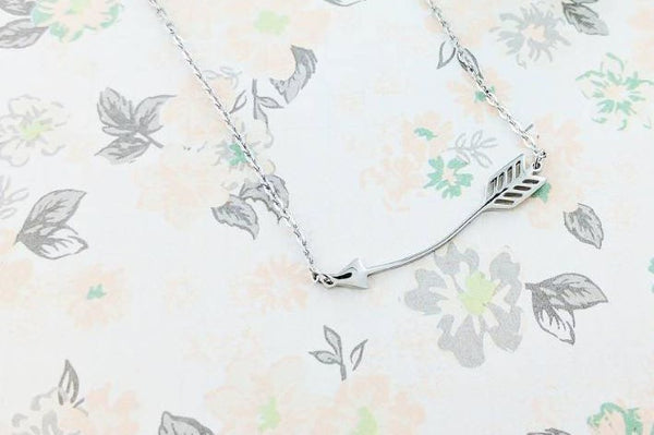 Eternal Sparkles Arrow Necklace