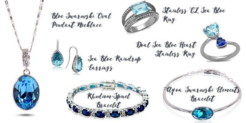 Blue gem jewelry from Eternal Sparkles