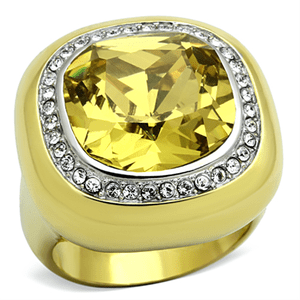 Canary Yellow Two-Tone Cocktail Ring