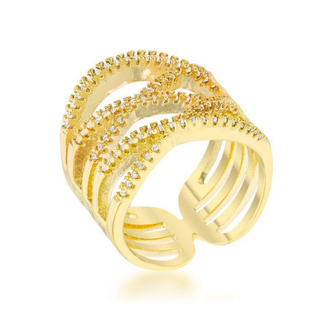 Gold Cuff Ring from Eternal Sparkles
