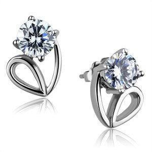 Enchanted Solitaire Cubic Zirconia Earrings