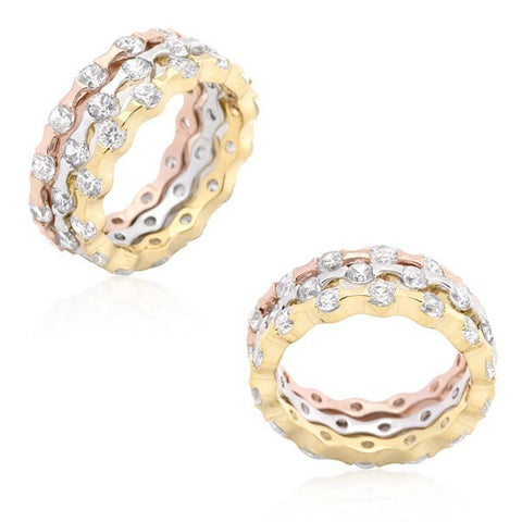 18k Gold-Plated Eternity Rings from Eternal Sparkles