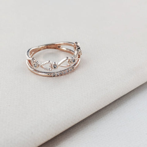 Accented Dainty Heart Cut Out Ring from Eternal Sparkles