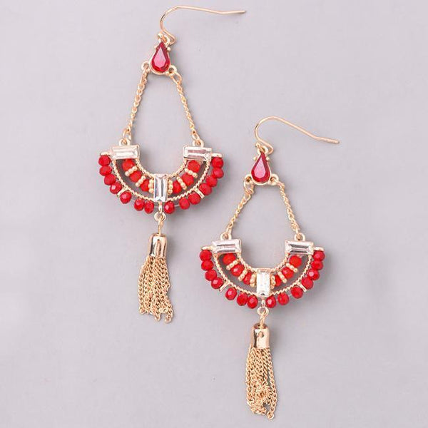 Eternal Sparkles Crystal Beaded Statement Earrings
