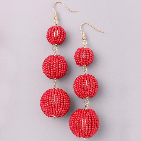 Eternal Sparkles Dainty Beaded BonBon Earrings