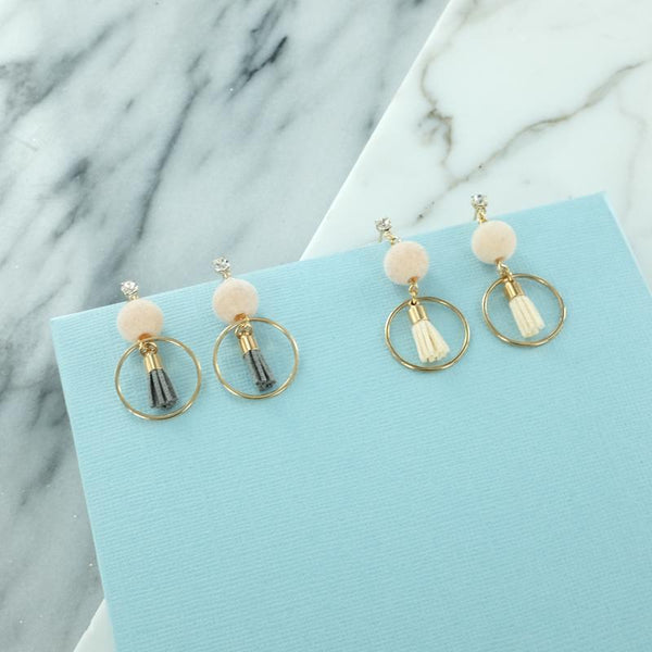 Eternal Sparkles Dainty Bon Bon Tassel Earrings
