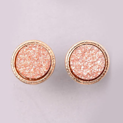Eternal Sparkles Dainty Druzy Stud Earrings