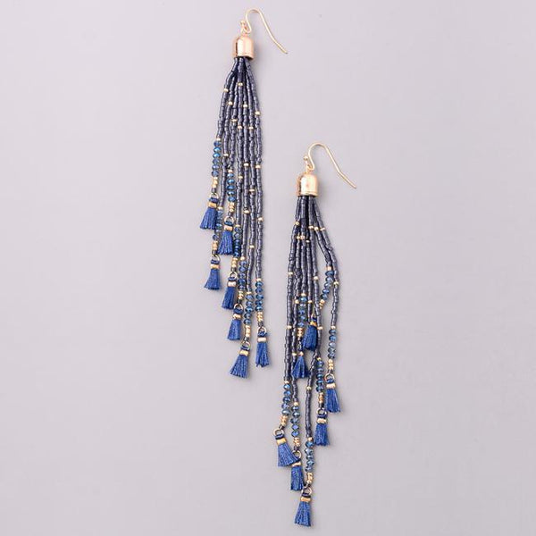 Eternal Sparkles Dainty Mini Beaded Tassel Earrings
