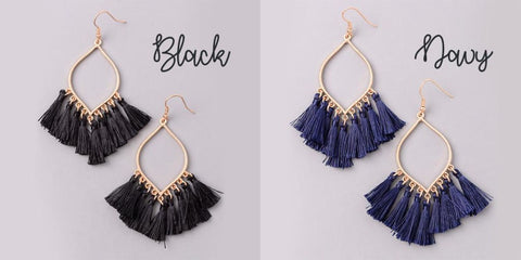 Eternal Sparkles Festive Mini Tassel Earrings