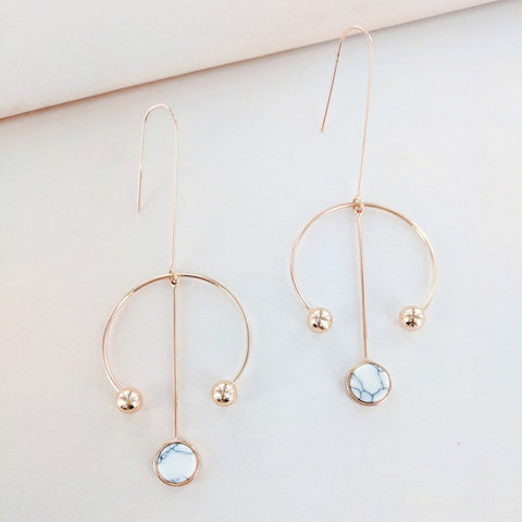 Eternal Sparkles Geometric Dangle Earrings