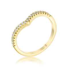 Gold Chevy Ring from Eternal Sparkles