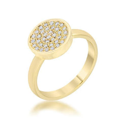 Eternal Sparkles Gold Moon Ring