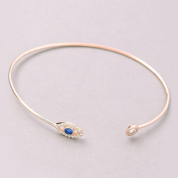 Eternal Sparkles Jewel Evil Eye Cuff Bracelet