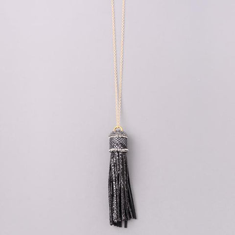 Jewel Wrapped Tassel Necklace from Eternal Sparkles