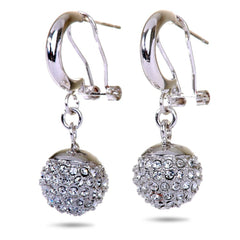 Pave Swarovski Elements Ball Drop Earrings from Eternal Sparkles