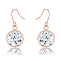 Rose Gold Sparkle Drop Earrings from Eternal Sparkles
