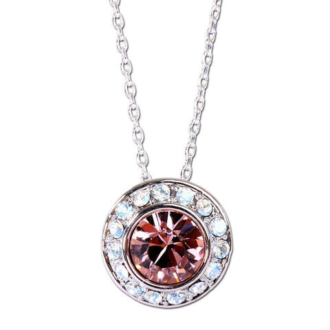 Rose Solitaire Swarovski Elements Necklace from Eternal Sparkles
