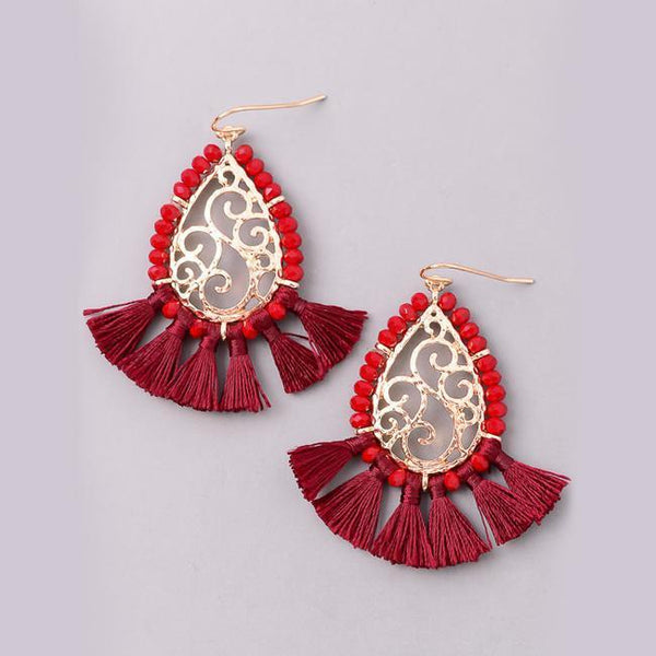 Eternal Sparkles Teardrop Chandelier Tassel Earrings