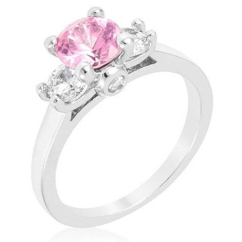 Tre Minimal Pink Ring from Eternal Sparkles