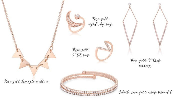 Eternal Sparkles rose gold fashion jewelry