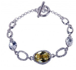 Eternal Sparkles Canary Yellow Swarovski Crystal Bracelet