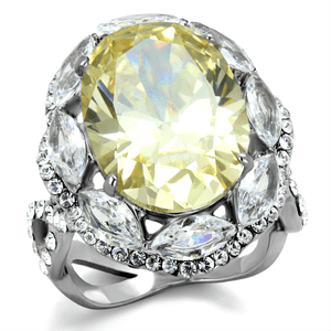 Fantasy Yellow Cubic Zirconia Cocktail Ring