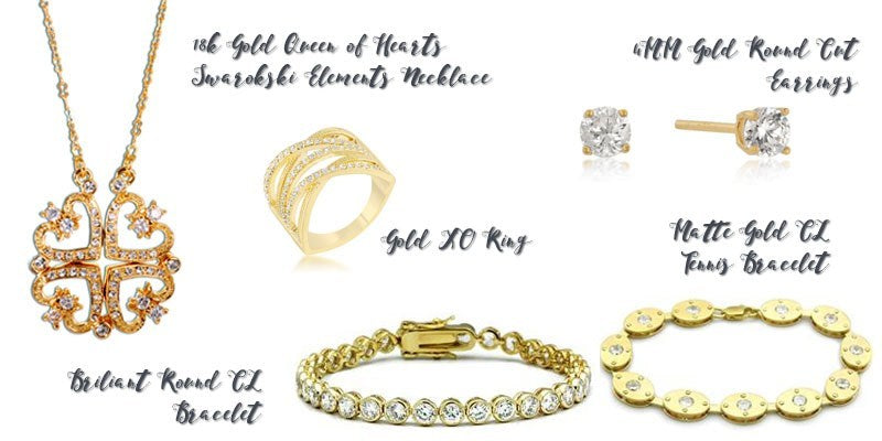 Gold jewelry from Eternal Sparkles