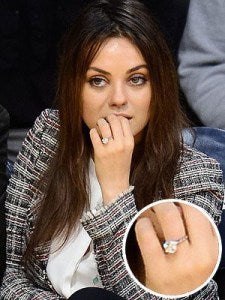 Mila Kunis' Engagement Ring